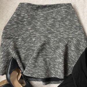 Tweed black and white Flippy Skirt